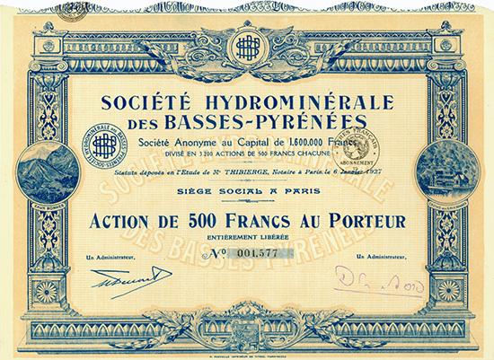 Societe Hydrominerale des Basses-Pyrenees