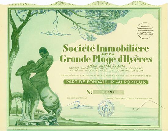 Societe Immobiliere de la Grande Plage d'Hyeres