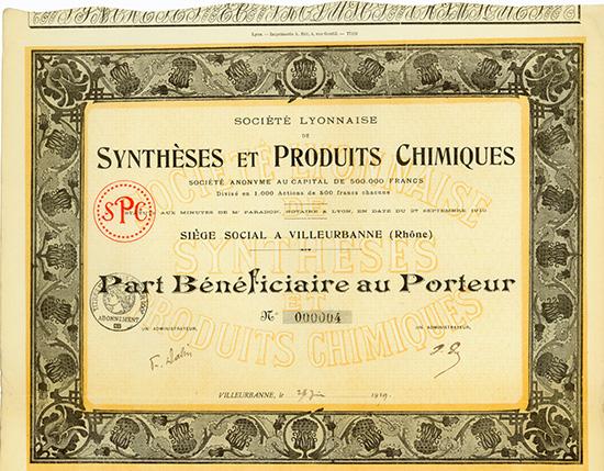 Societe Lyonnaise de Syntheses et Produits Chimiques