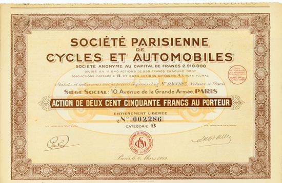 Societe Parisienne de Cycles et Automobiles