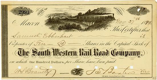 South Western Rail Road Company