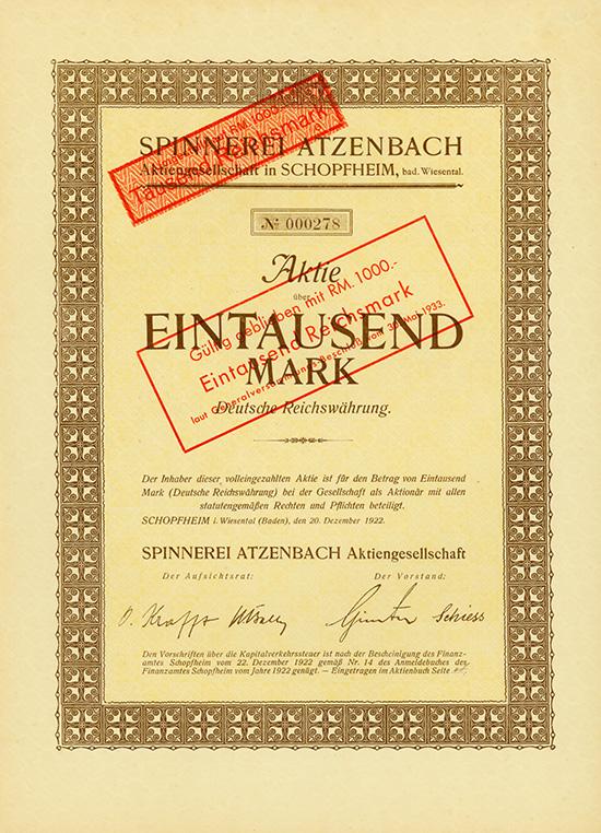 Spinnerei Atzenbach AG