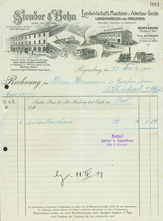 Stender & Behn, Landwirtschaftl. Maschinen u. Ackerbau-Geräte, Lokomobilen für Industrie