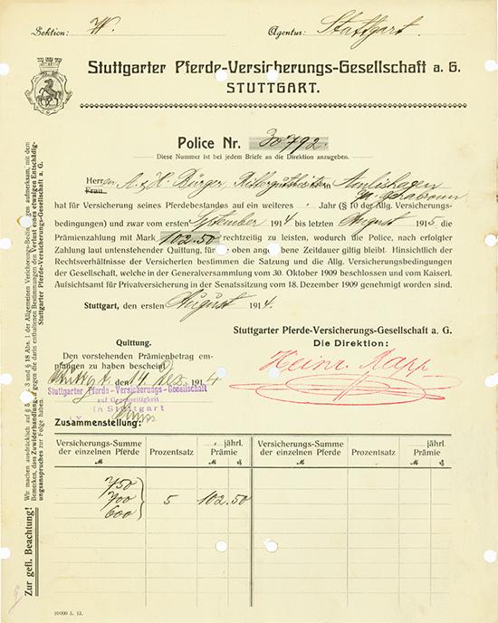 Stuttgarter Pferde-Versicherungs-Gesellschaft AG
