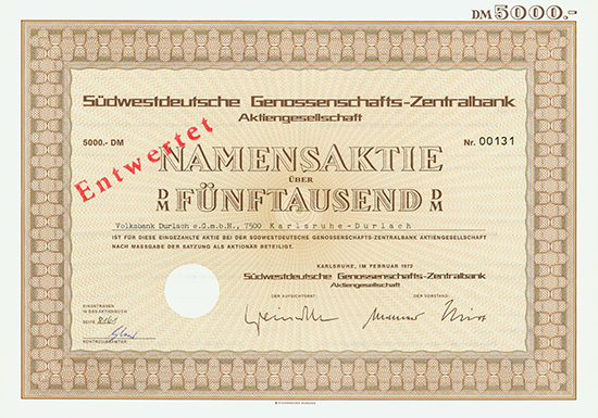 Südwestdeutsche Genossenschafts-Zentralbank AG