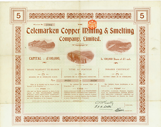 Telemarken Copper Mining & Smelting Company, Limited
