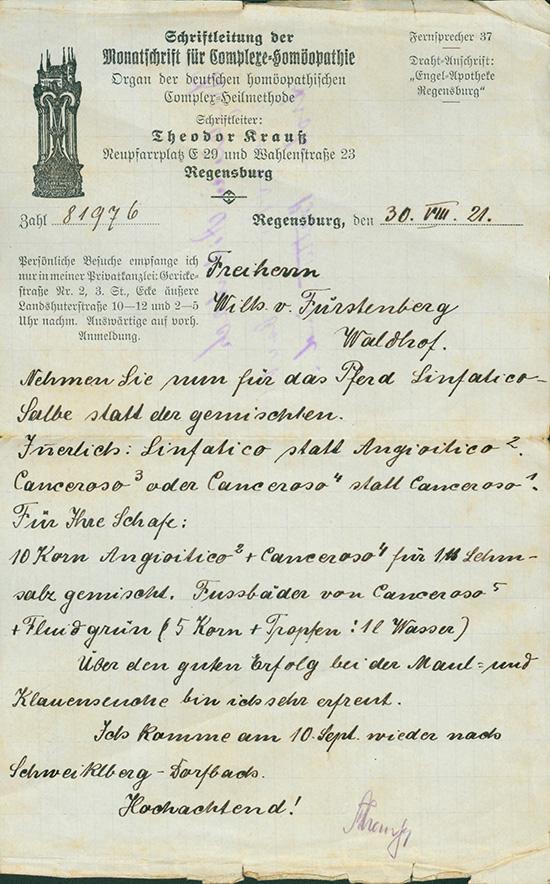 Theodor Krauß, Schriftleitung der Monatschrift für Complexe-Homöopathie
