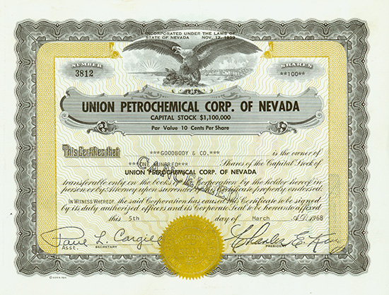 Union Petrochemical Corp. of Nevada
