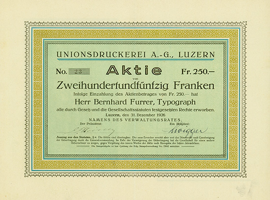 Unionsdruckerei AG