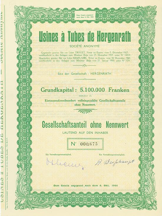 Usines a Tubes de Hergenrath S.A.