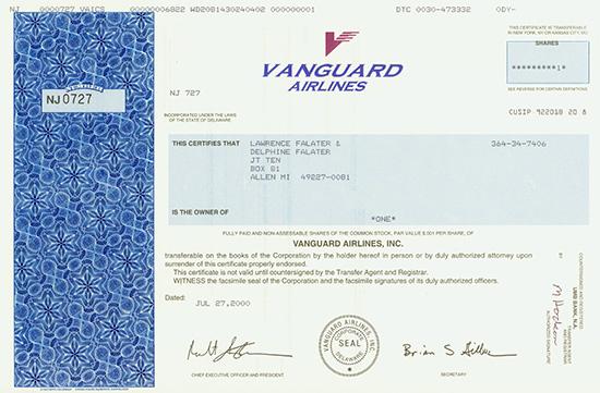 Vanguard Airlines, Inc.