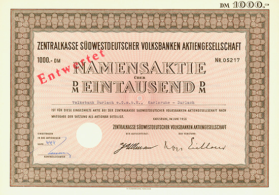 Zentralkasse Südwestdeutscher Volksbanken AG