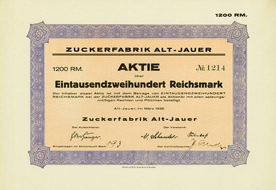 Zuckerfabrik Alt-Jauer