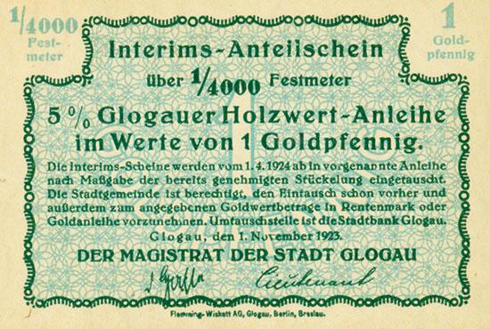5% Glogauer Holzwert-Anleihe