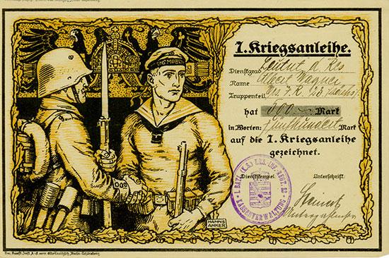 7. Kriegsanleihe - Zeichnungsschein