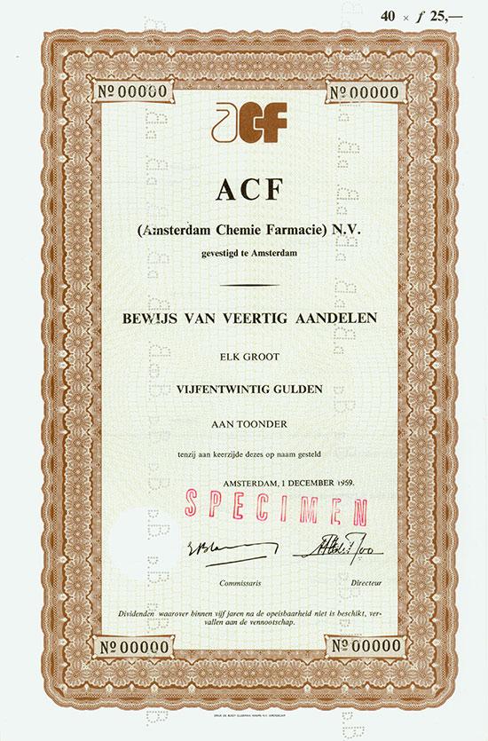 ACF (Amsterdam Chemie Farmacie) N.V.
