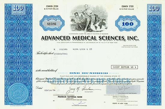 Advanced Medical Sciences, Inc. [2 Stück]