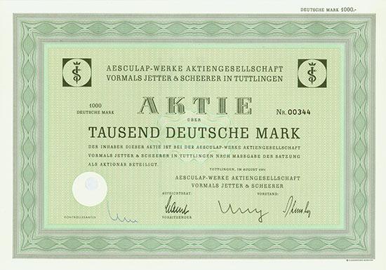 Aesculap-Werke AG vormals Jetter & Scheerer
