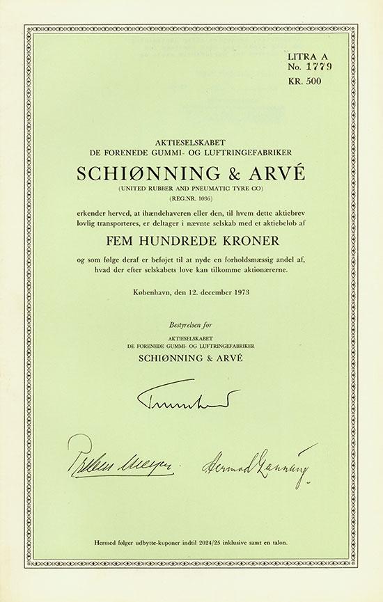 Aktieselskabet de Forenede Gummi- og Luftringefabriker Schiønning & Arvé