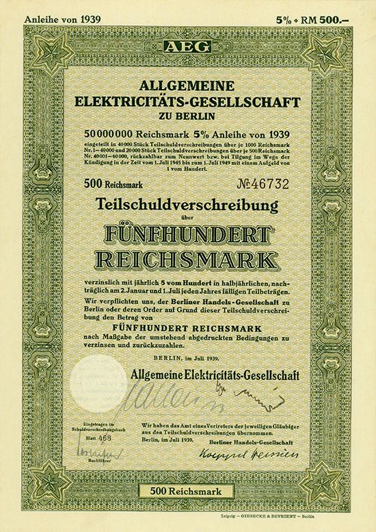 Allgemeine Elektricitäts-Gesellschaft [7 Stück]