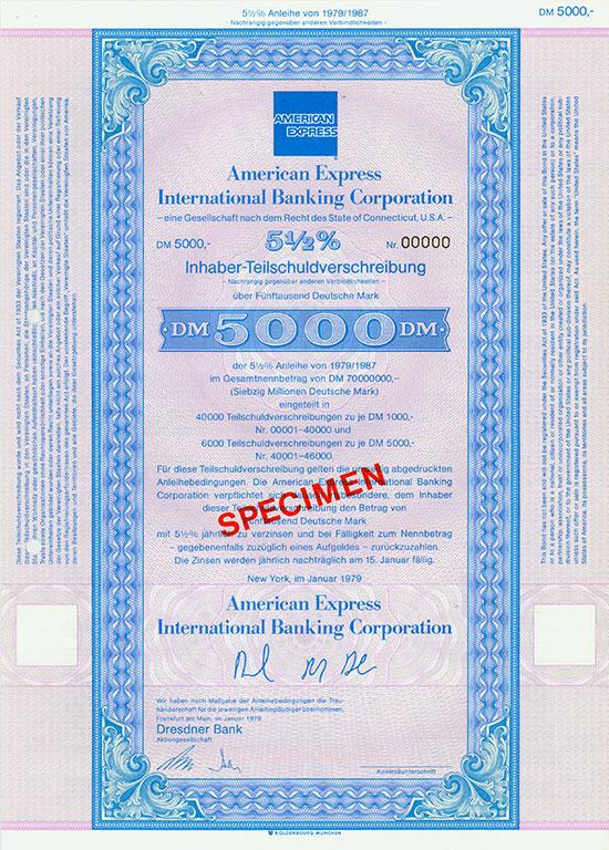 American Express - International Banking Corporation