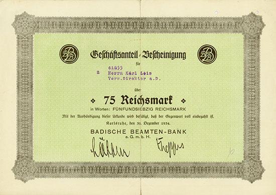 Badische Beamten-Bank e.G.m.b.H.