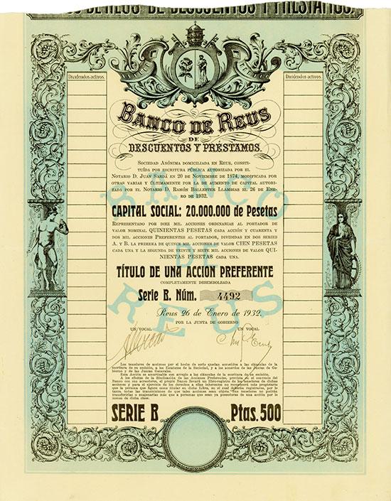 Banco de Reus de Descuentos y Préstamos