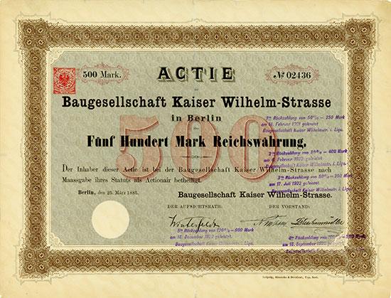 Baugesellschaft Kaiser Wilhelm-Strasse