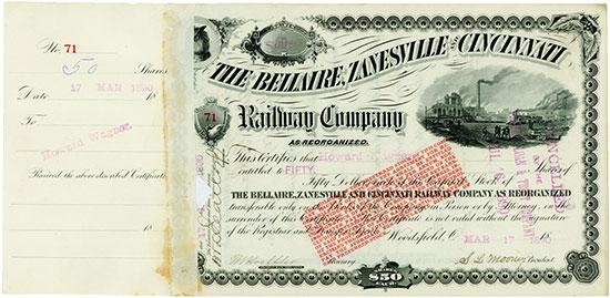 Bellaire, Zanesville & Cincinnati Railway (as reorganized)