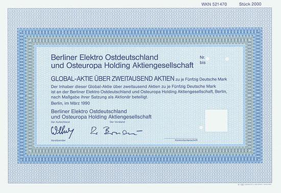 Berliner Elektro Ostdeutschland und Osteuropa Holding AG