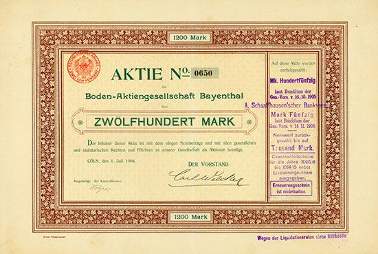 Boden-Aktiengesellschaft Bayenthal