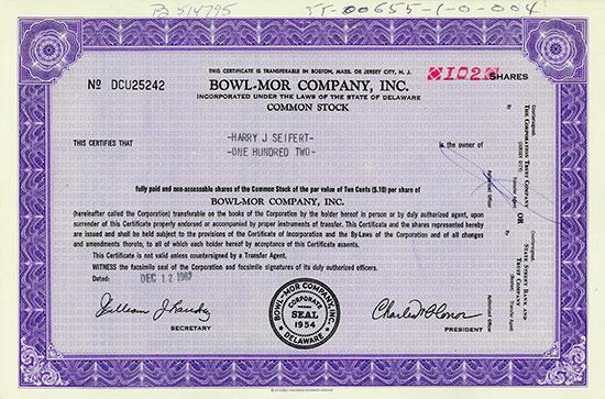 Bowl-Mor Company, Inc.