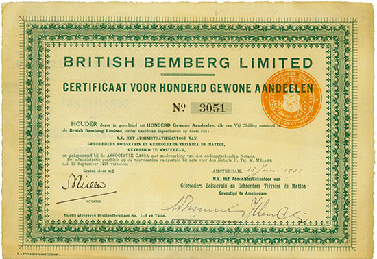 British Bemberg Limited [2 Stück]