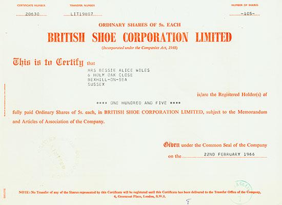 British Shoe Corporation Limited