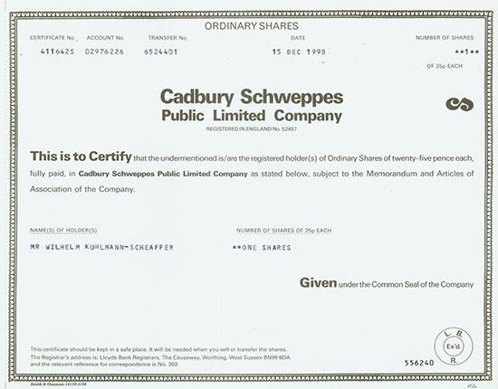 Cadbury Schweppes Public Limited Company
