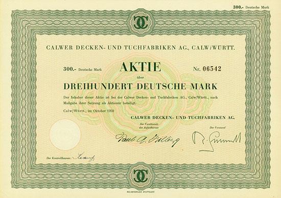 Calwer Decken- und Tuchfabriken AG