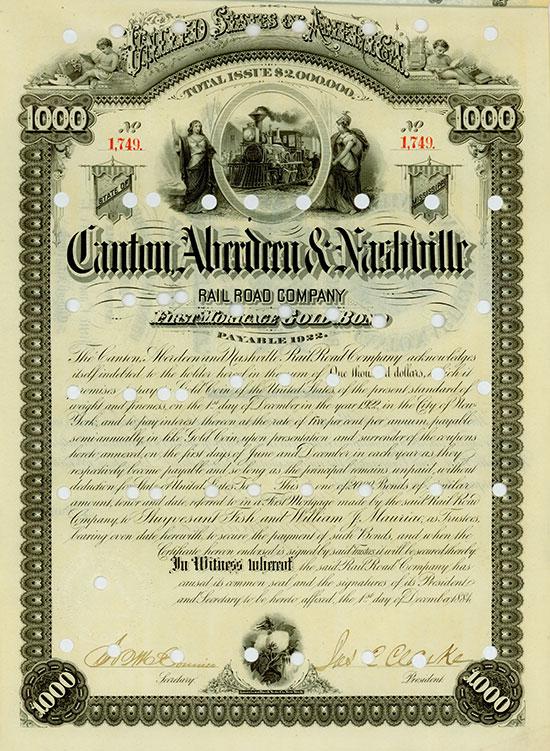 Canton, Aberdeen & Nashville Rail Road Company