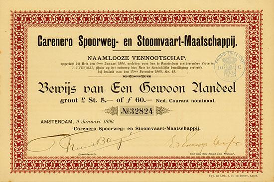 Carenero Spoorweg- en Stoomvaart-Maatschappij