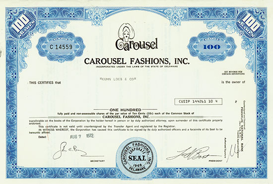 Carousel Fashions, Inc.