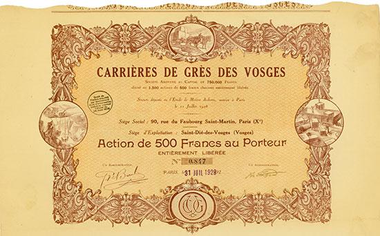 Carrières de Grès des Vosges