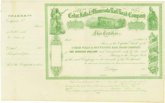 Cedar Falls & Minnesota Rail Road Company