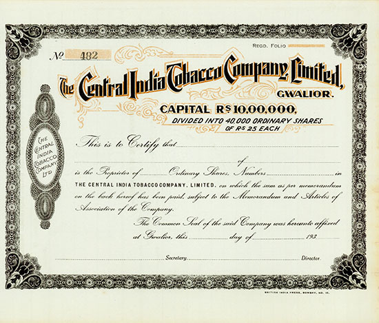 Central India Tobacco Company, Limited