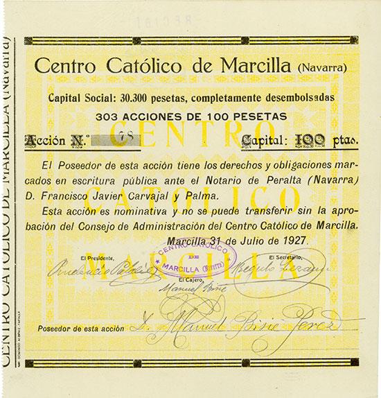 Centro Catolico de Marcilla (Navarra)