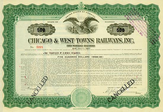 Chicago & West Towns Railways, Inc.