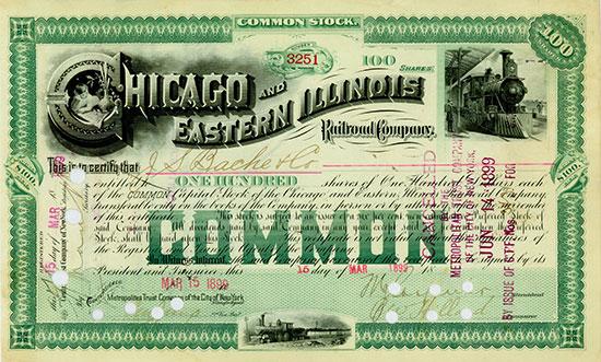 Chicago and Eastern Illinois Railroad Company [4 Stück]