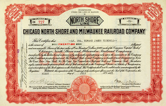 Chicago North Shore and Milwaukee Railroad Company [4 Stück]
