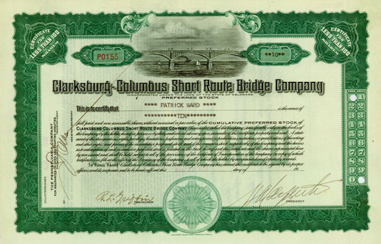 Clarksburg-Columbus Short Route Bridge Company