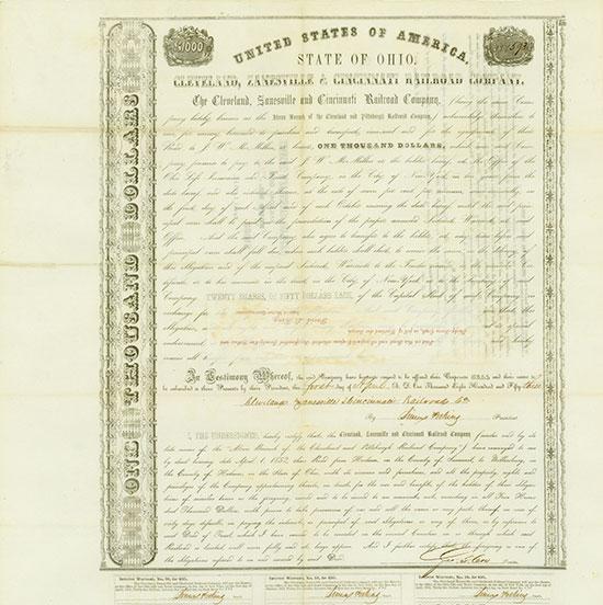 Cleveland, Zanesville & Cincinnati Railroad Company