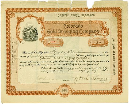 Colorado Gold Dredging Company