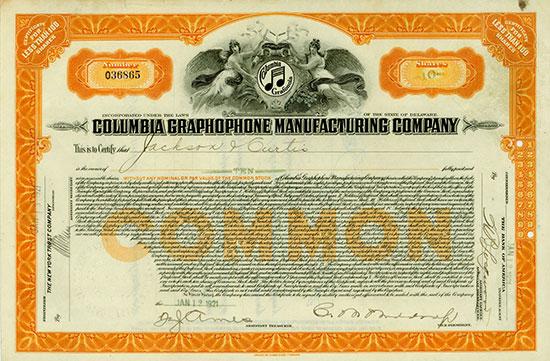 Columbia Graphophone Manufacturing Company [2 Stück]